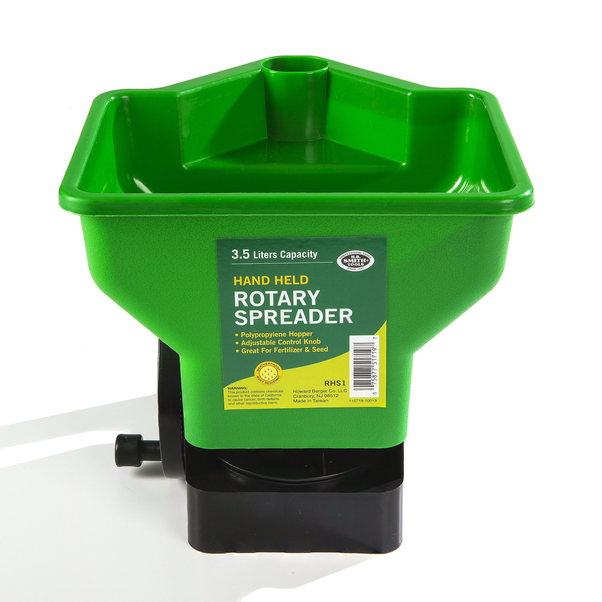 HBC Rotary Hand Spreader for Lawn and Garden by HBC
