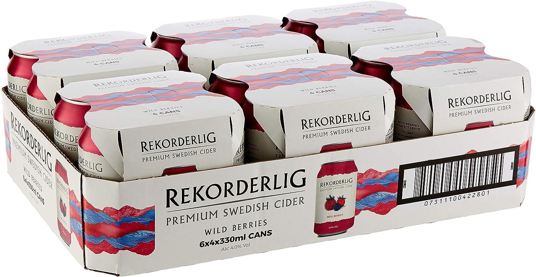 Rekorderlig Premium Wild Berries Cider 24 X 330ml Cans