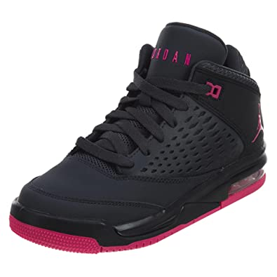 3fc85a35cd5a85 JORDAN KIDS JORDAN FLIGHT ORIGIN 4 (GS) ANTHRACITE DEADLY PINK BLACK SIZE  9.5