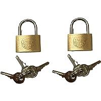 Set van 2 mini hangsloten 25 mm met 6 sleutels - klein hangslot slot slot voor dagboek, tassen, koffers, kettingen…