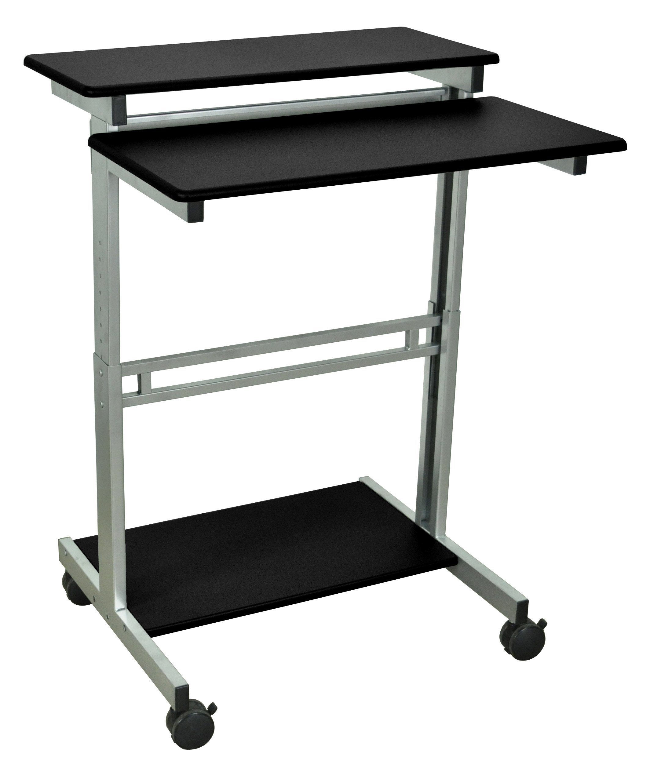 DMD Stand-Up Mobile Audio Visual (AV) Presentation and Workstation for Laptops, Tablets and Projectors or Data Entry, 31 1/2 Inch, Black