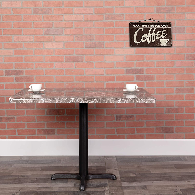Flash Furniture 24 x 42 Rectangular Gray Marble Laminate Table Top