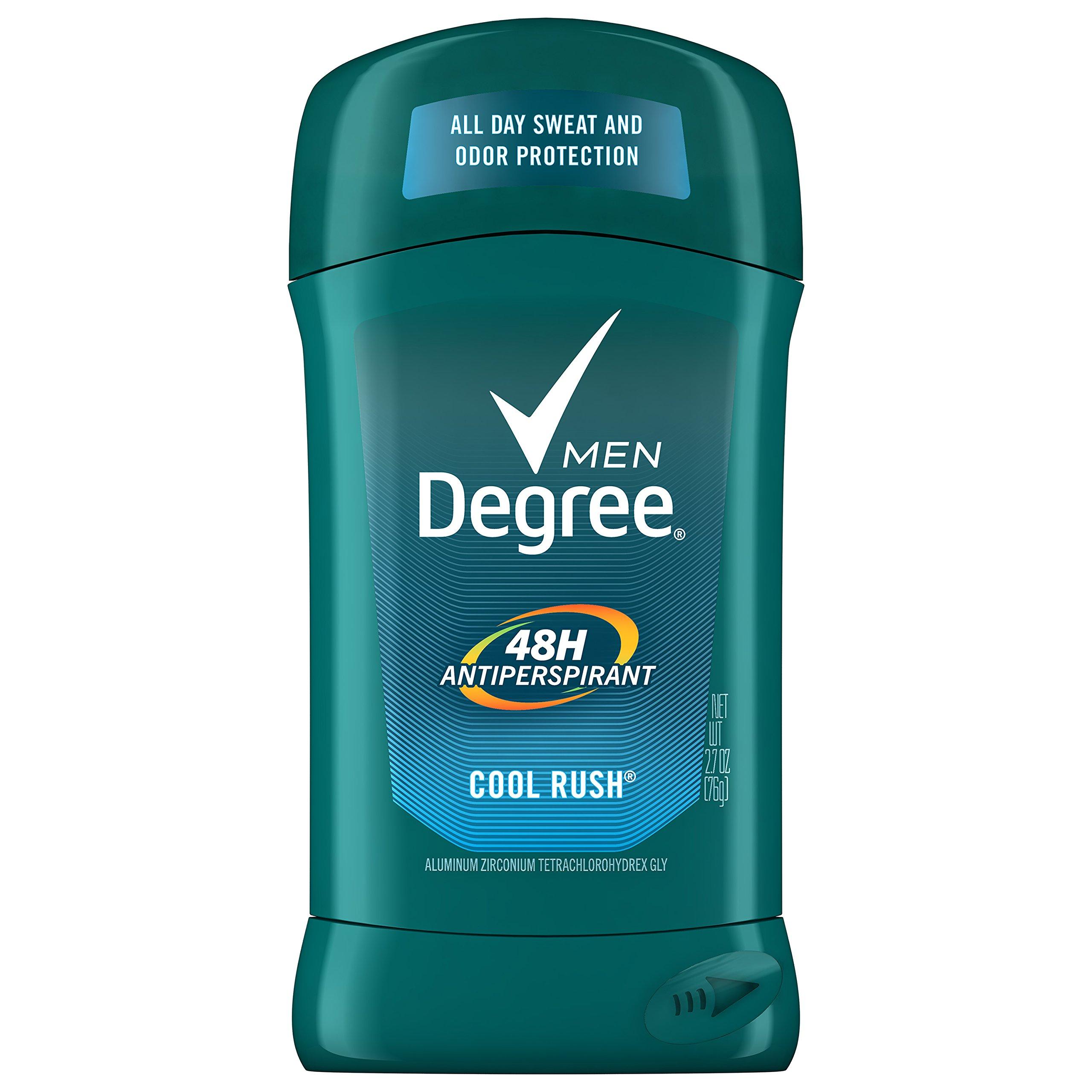 Degree Men's 48 hour Antiperspirant ,Cool Rush, 2.7oz