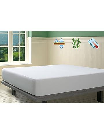 SAVEL, Protector de colchón Rizo 100% Bambú Impermeable y Transpirable, 135x190/200cm
