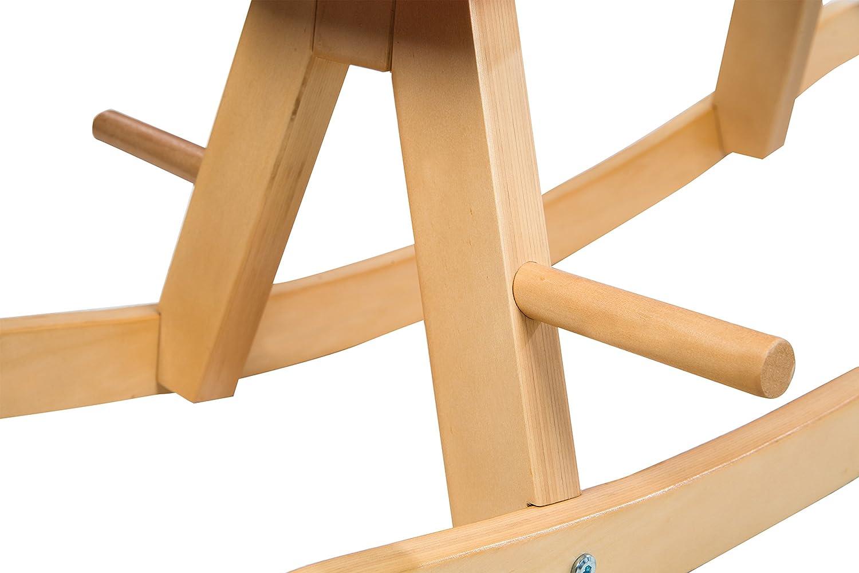 Schaukeltier Massivholz Schaukelstuhl mitwachsend f/ür Babys und Kleinkinder durch abnehmbaren Schutzring wei/ß roba Schaukelpferd ab 1 Jahr grau