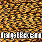 4mm 100ft, 50ft, 33ft, 20ft, 10ft, 7 Strand Core Paracord Parachute Cord, Bracelet Rope, Lanyard Rope, Camping Hiking Craft, Multiple Color (Orange, 33ft (10m))