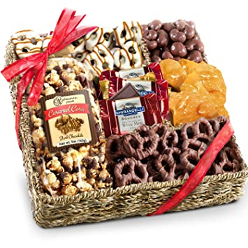 Amazon.com : Chocolate, Nuts and Crunch Gift Basket : Gourmet ...