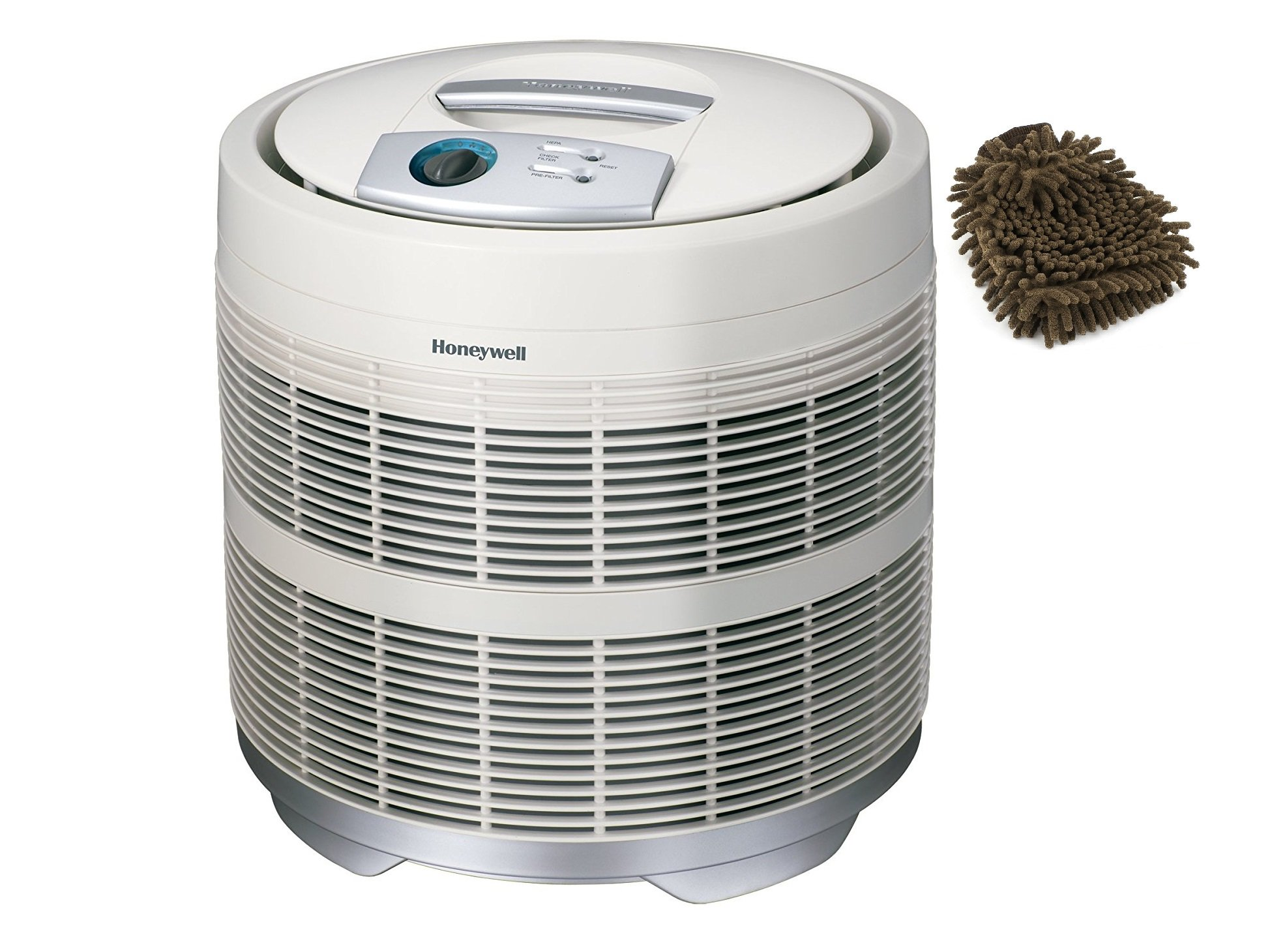 50250-S Honeywell Air Purifier True HEPA Filter, Prefilter, 390 Sq. Ft (Complete Set) w/ Bonus: Premium Microfiber Cleaner Bundle