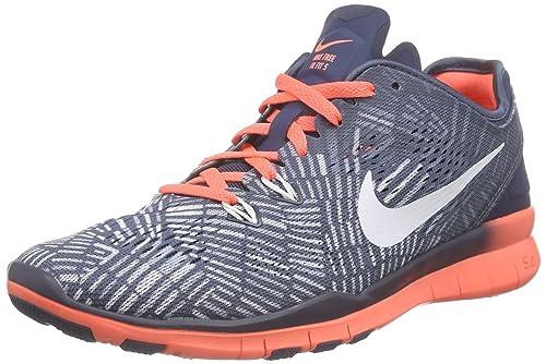 sports shoes 9a074 a394b Amazon.com | Nike Women's Free 5.0 TR Fit Blue/Mango/Grey ...