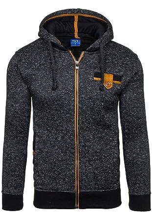 Warm Winter Hoodies Sweatshirt Dots Print Zipper Mens Hoody Tracksuit Brand Casual Sudaderas Hombre black S