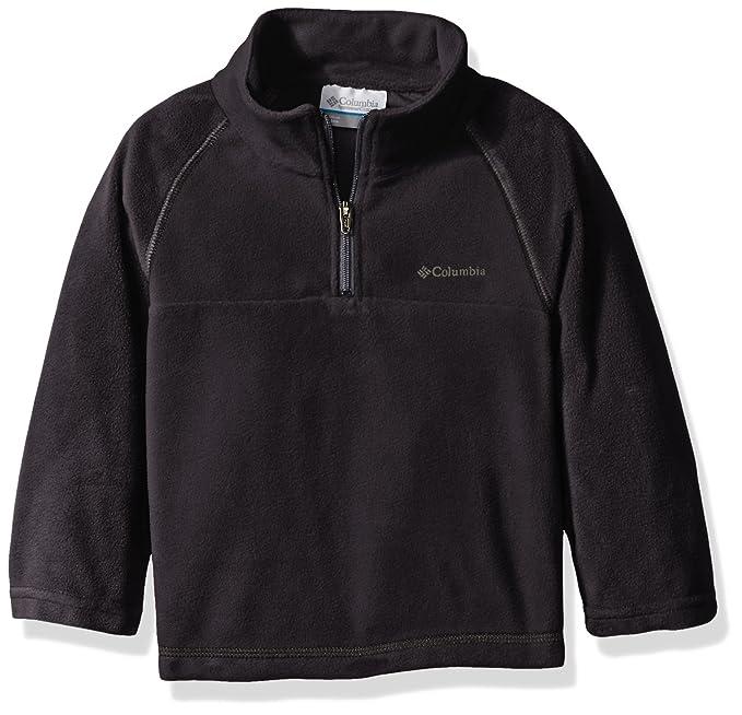 88fb8c8fa Columbia Little Boys' Glacial Half Zip Fleece Jacket, Black, XX-Small