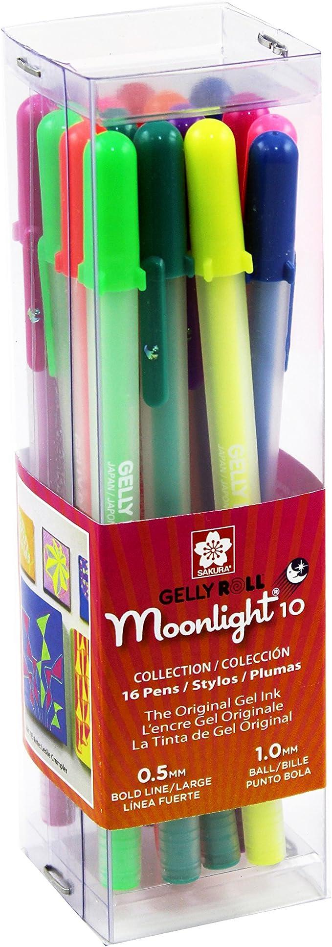Sakura 58178 Gelly Roll Moonlight Bold Cube 16 Gel Pen Set Assorted Colors NEW!
