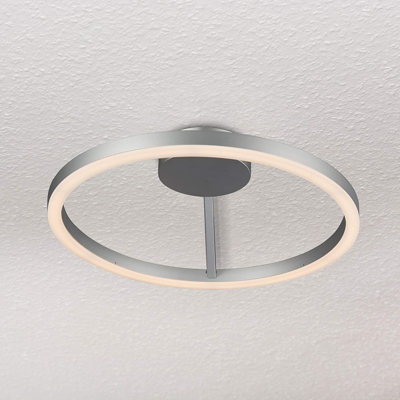 Vonn vmcf41300al zuben 20 modern circular ceiling light fixture integrated led 19 75l x 19 75w x 5h silver