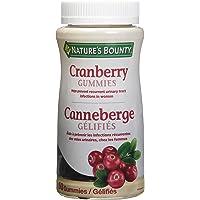 Nature's Bounty Cranberry Gummies Herbal Supplement, Helps Prevent Recurrent UTIs, 60 Gummies