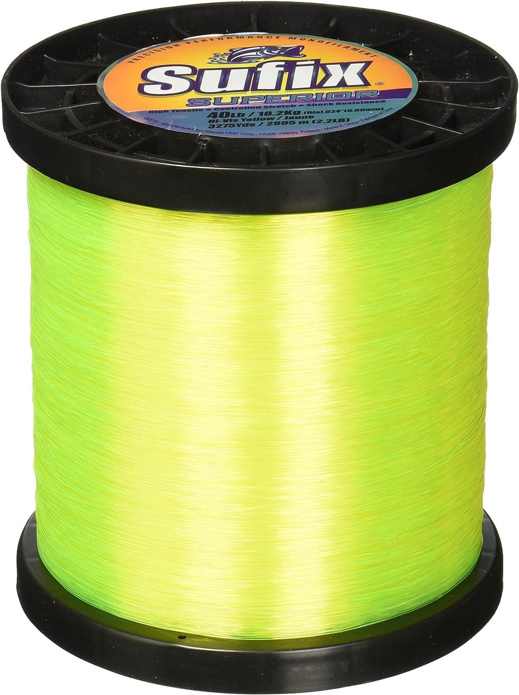 Sufix Superior Spool Size Fishing Line (Yellow, 100-Pound)