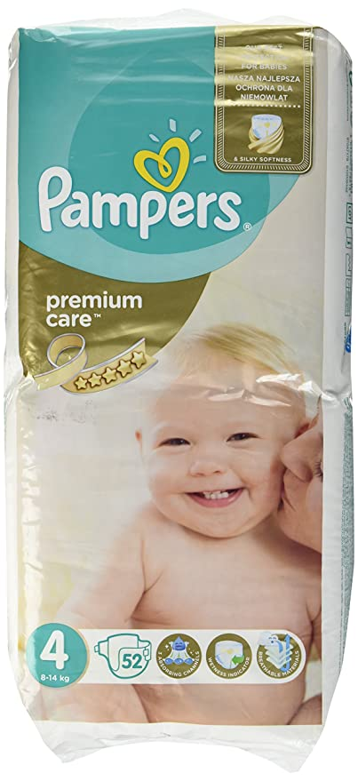 Pampers Premium Care 4 52pieza(s) - Pañal (Disposable diaper, Color blanco