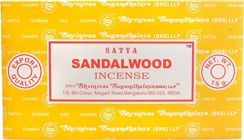 Satya Varillas de Incienso de sándalo Nag Champa