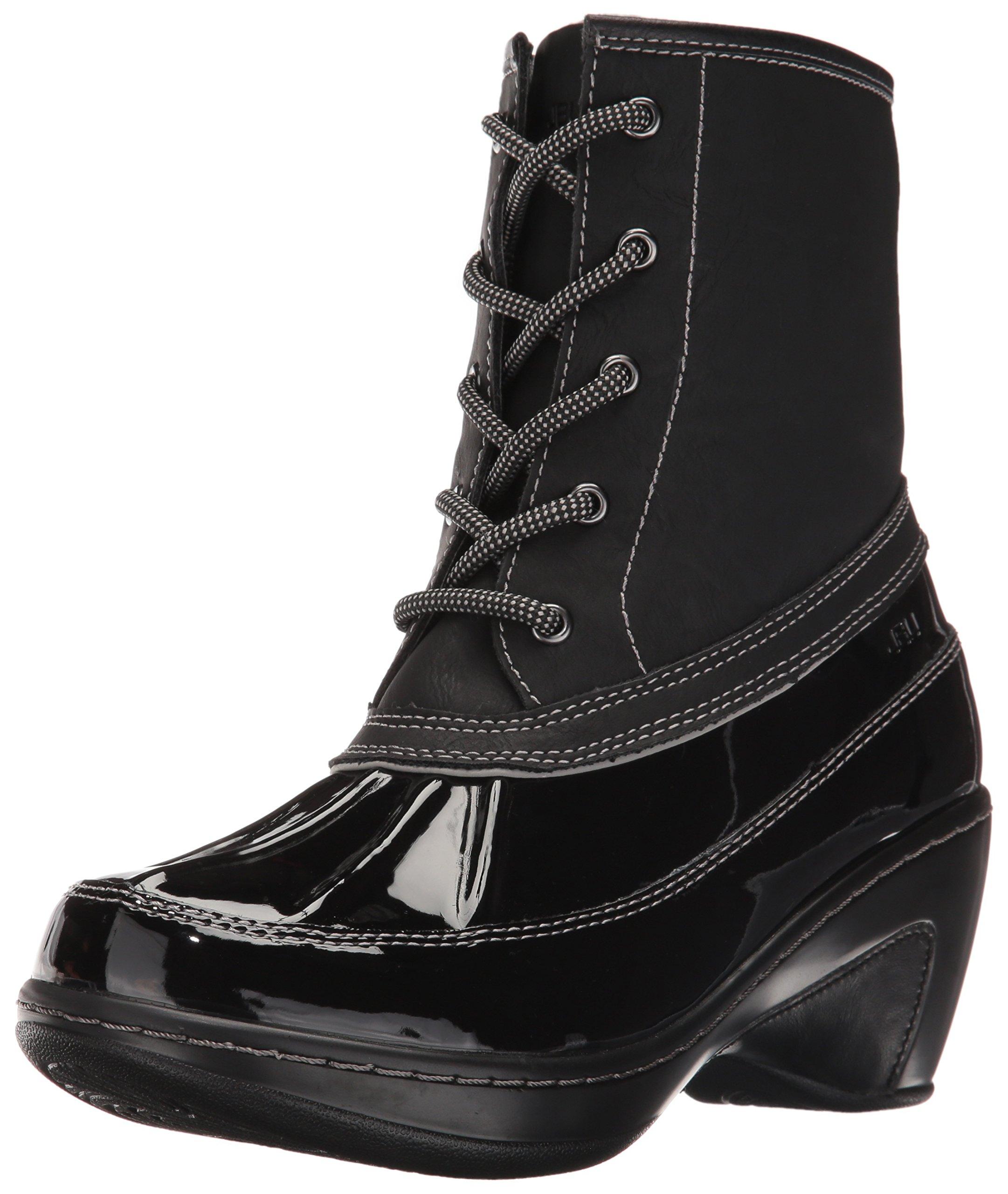 JBU by Jambu Women's Caramel Rain Boot, Black, 10 M US