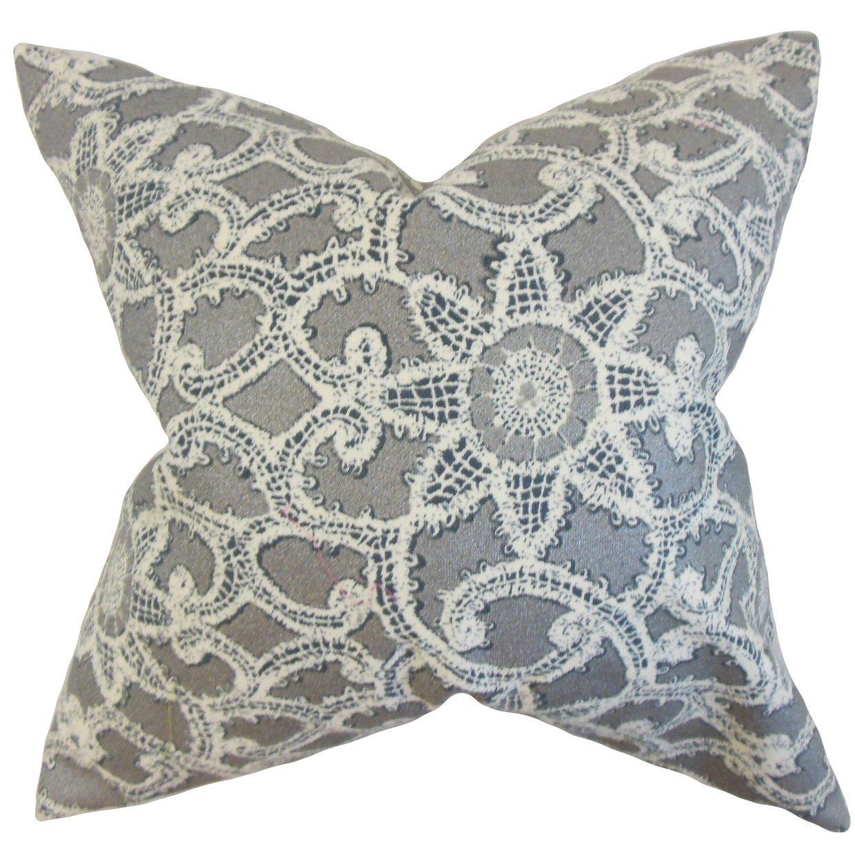 The Pillow Collection Brinley Geometric Bedding Sham Platinum Standard/20 x 26',