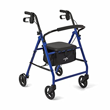 Amazon.com: Medline Acero plegable transporte Rollator la ...