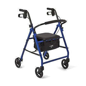 Amazon.com: Medline Acero plegable transporte Rollator la ...