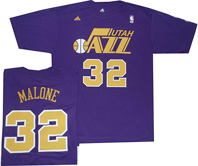 huge discount 57389 b26c8 adidas Utah Jazz Karl Malone 1988 Throwback Shirt