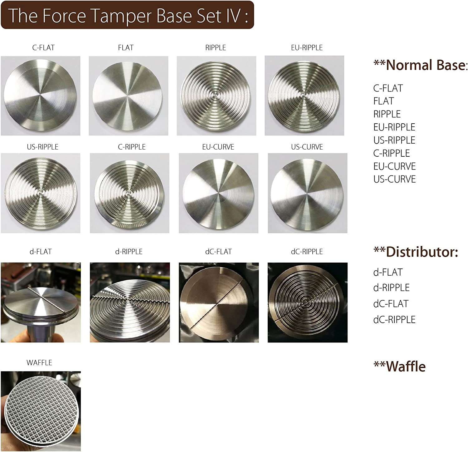 The Force Tamper Automatic Impact Coffee Tamper Adjustable Const Pressure and Autoleveling FULL Set New Ball, 58.35mm