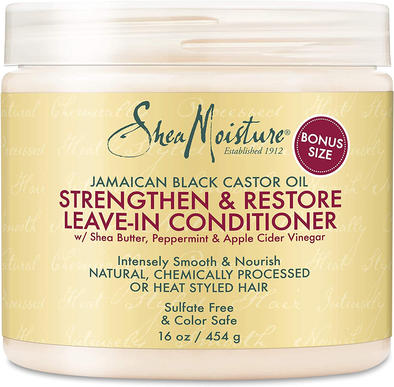 Shea Moisture Jamaican Black Castor Oil Strengthen/Grow and Restore Leave-In Conditioner: Amazon.es: Belleza