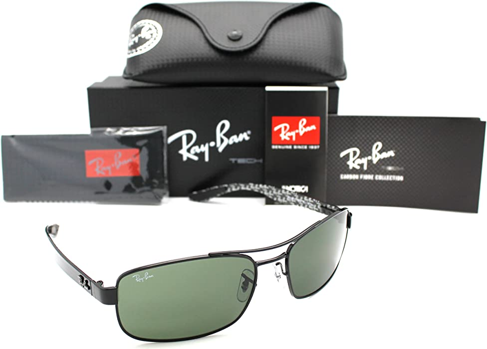 b49fcebef1 Ray ban RB8316 002 62 Black Tech Carbon Fibre Sunglasses  Amazon.ca ...
