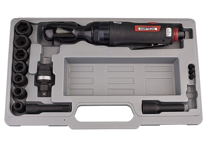 SUNTECH SM-34-3023 Air Ratchet Wrench with New Air Regulator Ltd- IMPORT FOB Black 1//2 1//2 Sunmatch Industrial Co