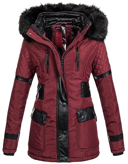 Jacke Lang Navahoo B304 Mantel Gefüttert Damen Designer Winter Warmer Parka SqzUMVp
