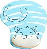 HIMRY Design Tapis de souris repose-poignets gel, Gel Mouse Pad Tapis de Souris avec Repose-poignets, KXC5100 bluecat