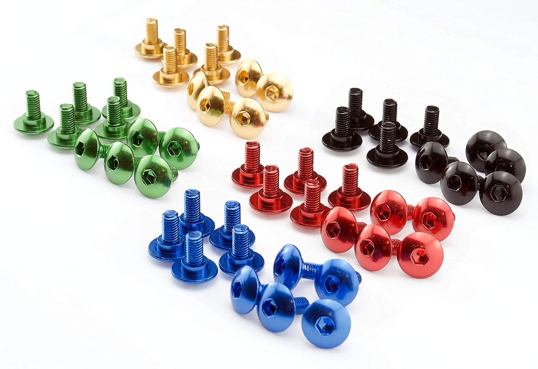 Farbauswahl:Blau eloxiert Aprilia RS 50 125 250 Schrauben Verkleidung Aluminium rot blau schwarz gold gr/ün eloxiert 10er Set