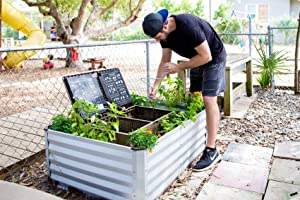 Subpod Grow Bundle. Outdoor Composting Worm Farm System with Raised Galvanized Garden Bed & Compost Turning Tool
