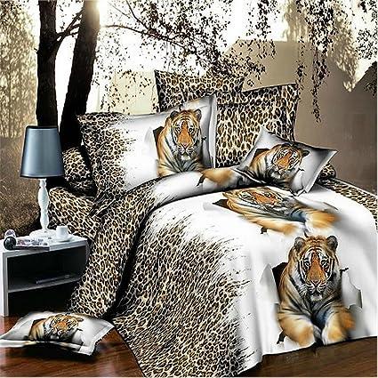 Amazon Com Home Textile 3d Bedding Sets Queen Cheetah Print Bedding