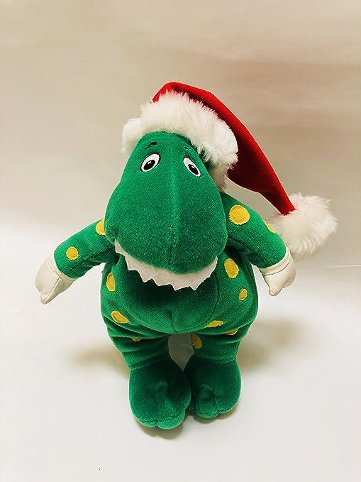 "da7d39f3e7e Amazon.com  9"" Wiggles Dorothy The Dinosaur Wearing Holiday ..."