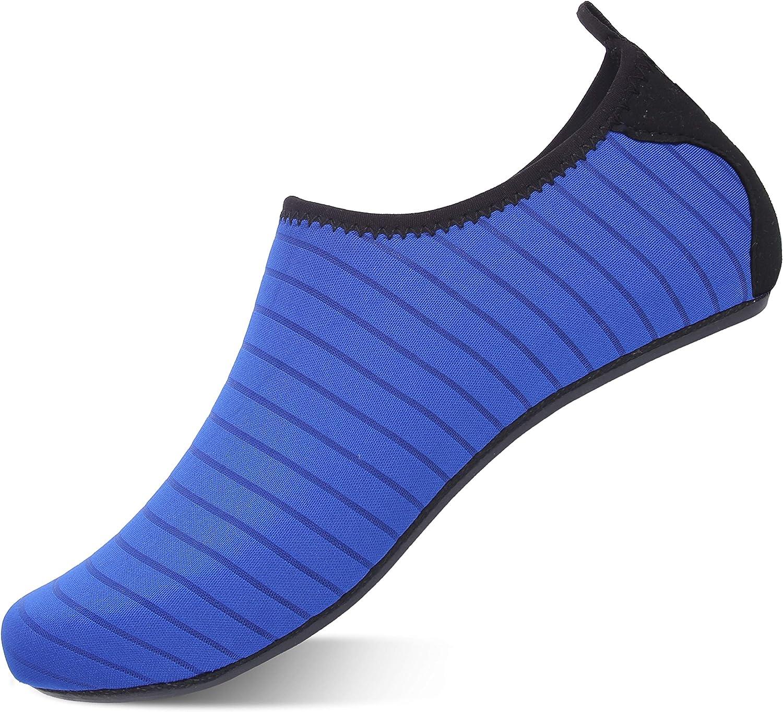 Farchat Zapatos de Agua para Hombre Mujer Snorkel Acuáticos Escarpines Playa Buceo Surf Piscina Vela Mar Río Aqua Deportes Calzado de Natación