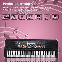 Zest 4 Toyz 49 Key Piano Keyboard Toy for Kids Dc Power Option + Recording + Microphone .