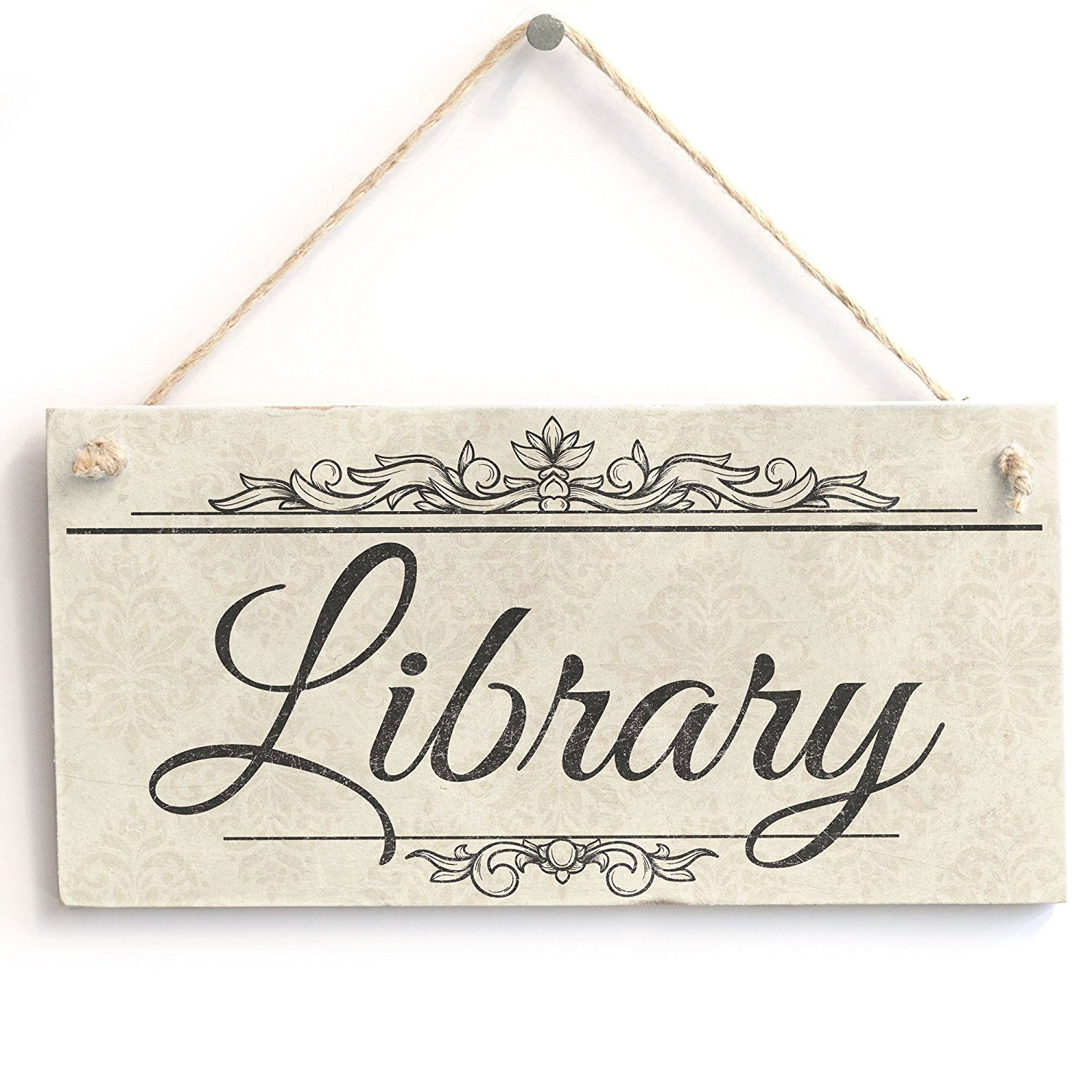 Meijiafei Library - Vintage PVC Sign /Plaque 10''x5''