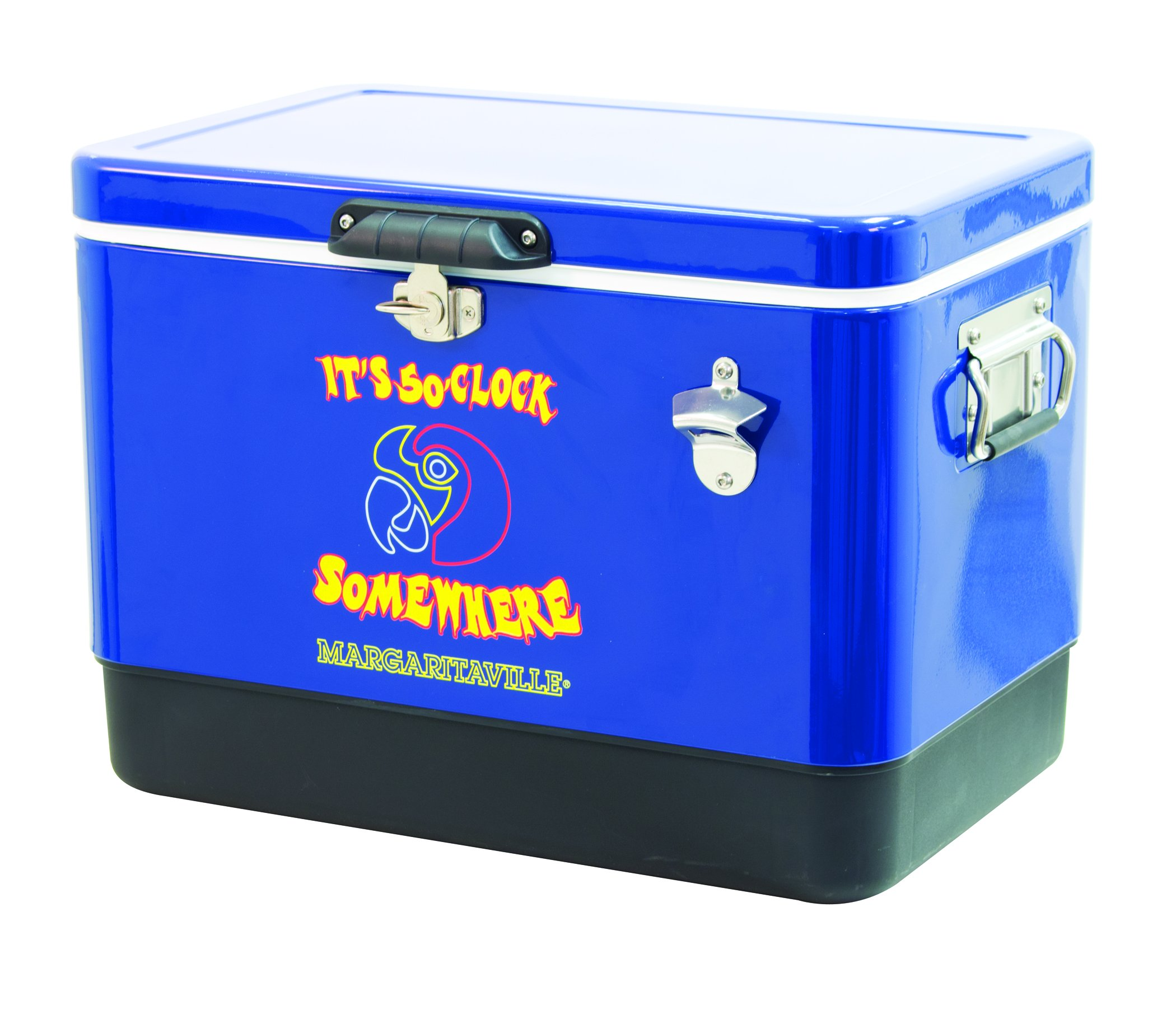 Margaritaville Outdoor ATC54MV-28 Margaritaville It's 5 O'clock Somewhere 54 Quart Steel Portable Bottle Opener Cooler, Blue by Margaritaville Outdoor (Image #2)