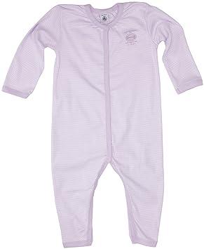69d08790e5471 Petit Bateau - 65885 - Pyjama Bébé Fille sans Pieds à Fines Rayures - Mauve