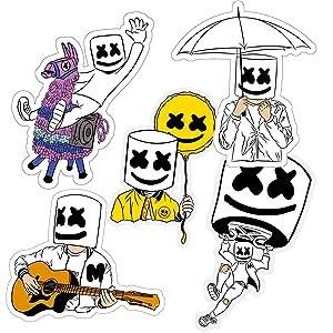 Marshmello 5 Stickers Bundle Sizes 3
