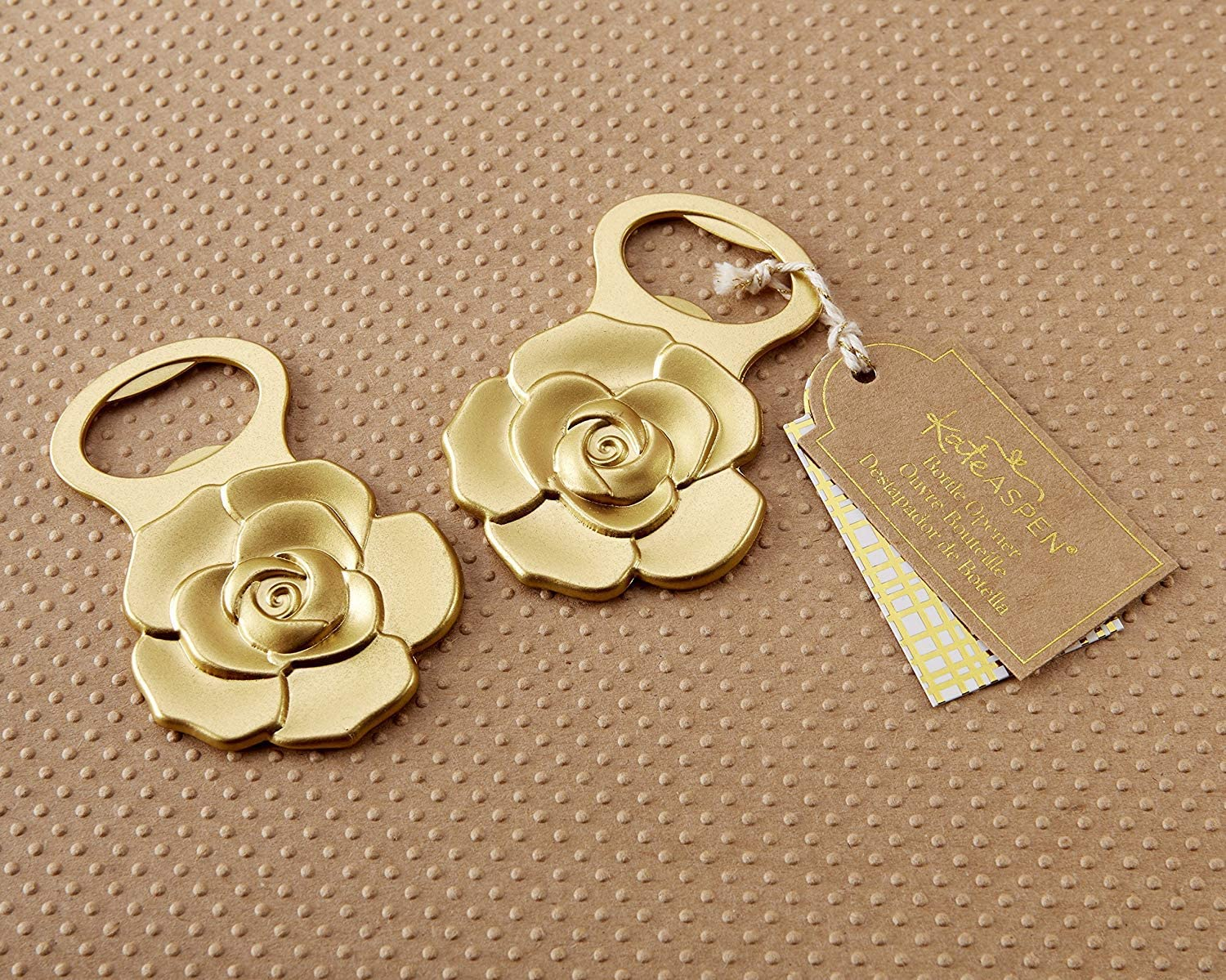 Kate Aspen, Metallic Gold Rose Bottle Opener, perfect for Wedding Favors & Party Decors, Gifts [並行輸入品]