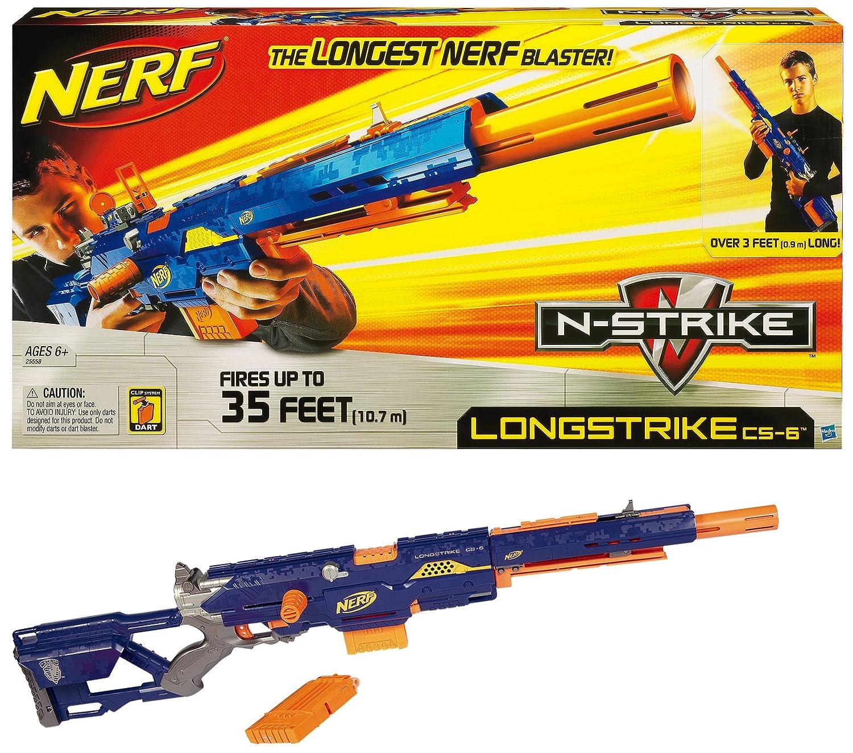 Amazon Nerf N Strike Longstrike CS 6 Dart Blaster Discontinued by manufacturer Toys & Games