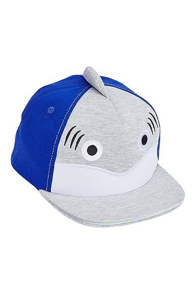 next Niños Gorra Tiburón (Niño Pequeño) Corte Estándar Azul/Gris 3-9 Meses: Amazon.es: Ropa y accesorios