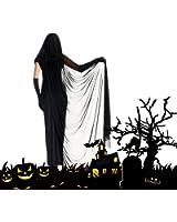 CrazySell Secuaces mujeres de Halloween disfraces disfraz bruja Prom Vestido largo, con capa