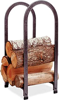 product image for Enclume Handcrafted Vertical Arch Fireplace Log Rack Hammered Steel