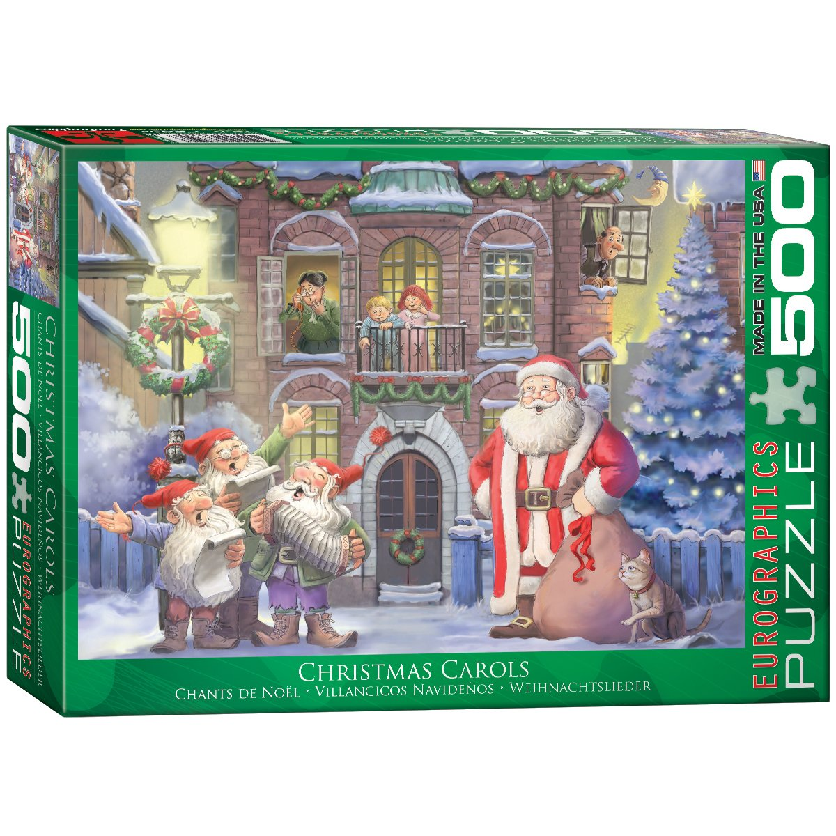 Eurographics Weihnachtslieder - 500 Teile Querformat Puzzle - Family ...