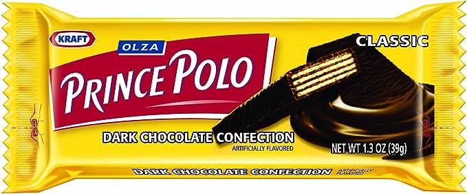 OLZA Prince Polo Classic Dark Chocolate Confection, 32-Count (1.2 ...