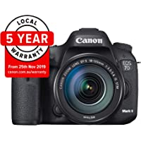 Canon EOS 7D Mark II with EF-S 18-135mm f 3.5-5.6 IS USM and Wi-Fi Adapter W-E1 Digital Camera - SLR(7DIISK2) 3Inch Display,Black (Australian warranty)